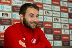 James Keatings speaks to the media prior to Hamilton's trip to Hibs on Saturday. Picture: SNS