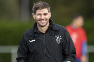 Steven Gerrard acknowledges that Hearts 'deserve' to be at the top of the Premiership table. Picture: SNS.