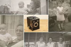 Old family pictures were found inside the Box Brownie