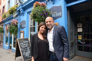 Dad and daughter duo Dean and Layla Gassabi are celebrating the 20th anniversary of their restaurant Maison Bleue. Picture: Jon Savage
