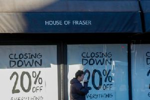 Frasers on Princes St has closing down signage in place 15/10/18