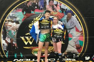 Lewis Inglis and Faith Harvey are both World Champions and ranked No1 in the world for Muay Thai. Picture: Contributed