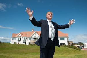 Donald Trumpat his Trump Turnberry clubhouse.