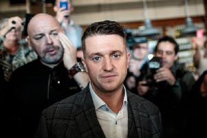 Tommy Robinson stated his intent to visit Tynecastle Park in an Instagram post (Photo: Getty)
