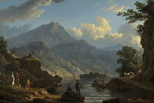 John Knox's created this image of tourists at Loch Katrine in the wake of a surge in visitors after it featured in Sir Walter Scott's Lady of the Lake poem.