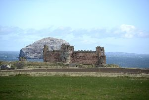 Three in one,'Tantallon Castle, Bass Rock and The Isle of May.'Pic: JPI