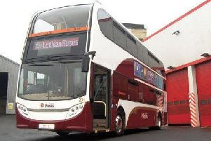 A Lothian Buses vehicle crashed in the earlt hours of this morning.