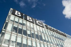 The BBC Scotland HQ in Pacific Quay, Glasgow. Picture: John Devlin