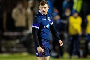 Scotland U20 and Club international 'George Taylor will make his Edinburgh debut on Friday against Munster. Picture: SNS