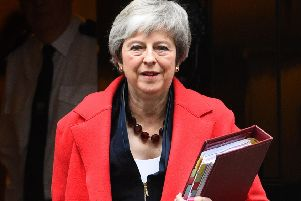 Theresa May acts like a warrior leader with no wish to pay attention to her 'enemies. Picture: PA