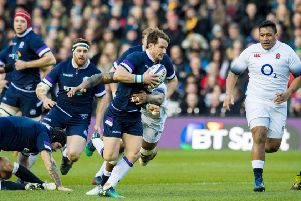 Scotland and England do battle for the Calcutta Cup in the 2018 Six Nations championship. Picture: SNS Group