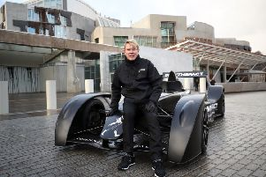 F1 legend Mike Hakkinen brought a supercar to Holyrood as he launched a campaign to tackle drink-driving. Picture: PA Wire