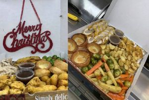 The Christmas munchie box at MC's Take-Away. Pic: MC's Take-Away Facebook