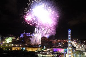 Edinburgh at Hogmanay. Pic: Jane Barlow