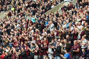Hearts fans had their say on the alleged racial abuse at Tynecastle Park at the weekend. Picture: SNS/Craig Foy