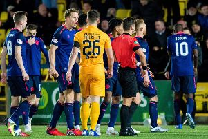 Hearts were soundly beaten by Livingston. Pic: SNS