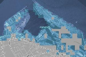 According to Climate Central, areas marked in blue could be submerged by rising sea levels caused by a 2C rise in world temperatures (Photo: Climate Central)