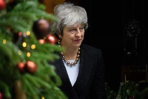Will Theresa May have much to celebrate this Christmas? Picture: Getty
