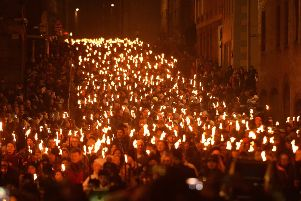 The torchlight procession is the traditional start to Edinburgh's Hogmanay celebration. Picture: Jon Savage