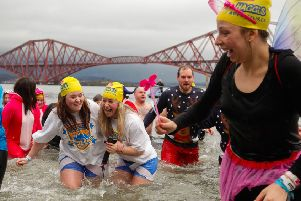 Theresa May, Jeremy Corbyn and Nicola Sturgeon might benefit from a dip in the freezing cold Loony Dook water. Picture: Scott Louden