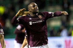 Hearts' Clevid Dikamona was allegedly racially abused during a game against Hibs