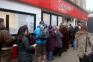 Designer bargains up for grabs at Shelter Scotland's annual Stockbridge charity shop event. Picture: Ian Rutherford
