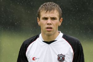 Nicky Faulds, pictured during his Gretna days