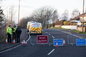 The road was closed by police. Picture: SWNS