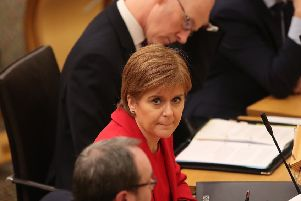 First Minister Nicola Sturgeon in the Scottish Parliament in Edinburgh. Picture: Jane Barlow/PA Wire