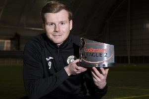Blair Henderson won the Ladbrokes League 2 Player of the Month award for December