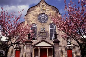 The historic Canongate Kirk, where the Queen worships while staying at the nearby Palace of Holyroodhouse. Pictures: Contributed