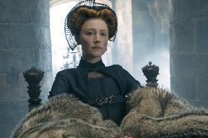 "Saoirse Ronan as Mary Stuart in a scene from ""Mary Queen of Scots."" (Liam Daniel/Focus Features via AP)"