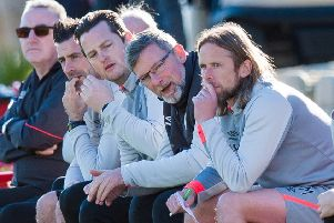 Hearts' management team will hope to guide them past Livingston in the Scottish Cup. Pic: SNS