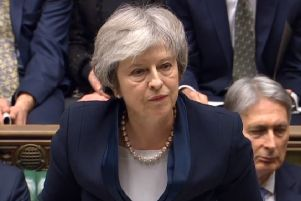 Prime Minister Theresa May speaks after losing a vote on her Brexit deal. Picture: Commons/PA Wire