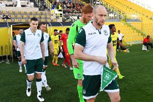David Gray was back in action for Hibs last week in the 1-0 win over Al-Wasl. Pic: SNS