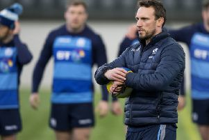 Mike Blair was at Oriam with the Scotland squad to begin training for the Six Nations