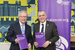 Henry McLeish and Henry Simmons from Alzheimer Scotland welcoming this major new report.