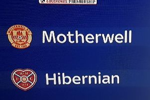 Sky Sports got their club crests mixed up when previewing the Motherwell-Hibs game. Picture: Contributed