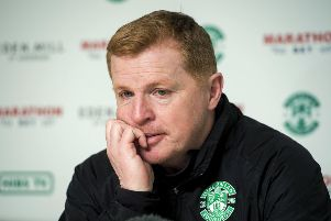 Hibernian manager Neil Lennon looks set to be absent from the match against St Mirren. Picture: SNS