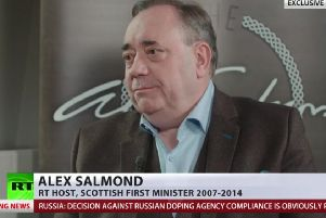 Alex Salmond has presented a chat show on RT since 2017