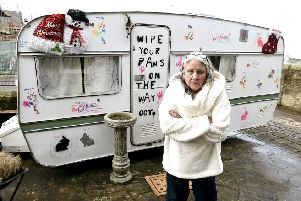 Shona McDonald is currently living in a caravan in her front garden.