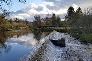 A rock ramp is planned for Mid Calder weir