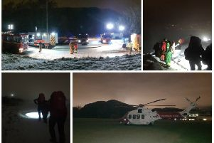 A man was rescued after falling at the summit of Arthur's Seat. Picture: Tweed Valley Mountain Rescue Team