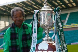 106 year old Sam Martinez visits Easter Road to see The Scottish Cup