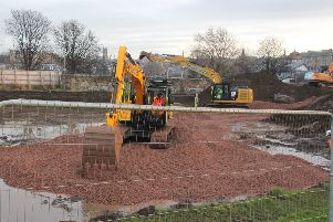 Works underway at Raeburn Place