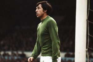 Gordon Banks looks on during a Stoke City game during the 1967/68 season. Picture: Don Morley/Allsport/Getty Images