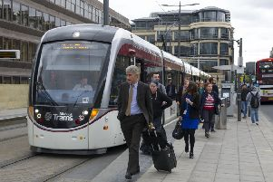 The case for extending the tram line to Leith may be less risk-free than has been suggested. Picture: Ian Rutherford