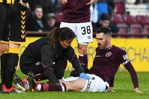 Michael Smith pulled up with injury against Auchinleck Talbot. Picture: SNS