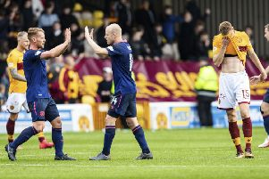 Hearts won on their last trip to Motherwell. Picture: SNS