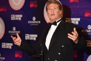 David Hasselhoff at the MTV EMA's 2014 at The Hydro in Glasgow. Picture: Ian Gavan/Getty Images for MTV.
